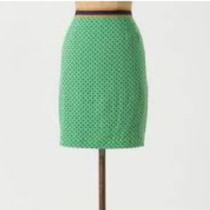 Anthropologie coreylynn Caulter lined linen skirt